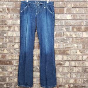 Cruel Girl BootCut 9 Extra Long medium wash jean